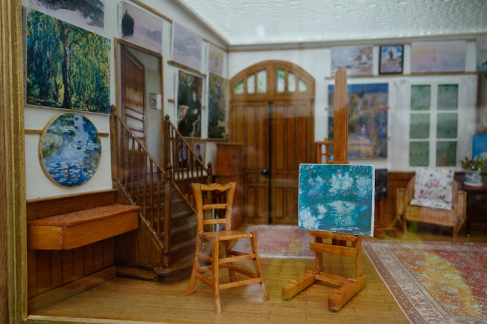 Another miniature room, Monet's studio, for sale in the gift shop.