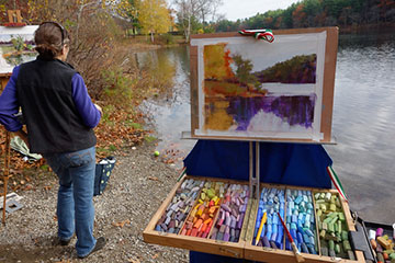Painting at Houghton's Pond