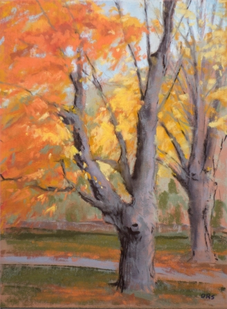 Sugar Maples, 7x10