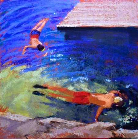 Under the dock, 12 x 12 SOLD