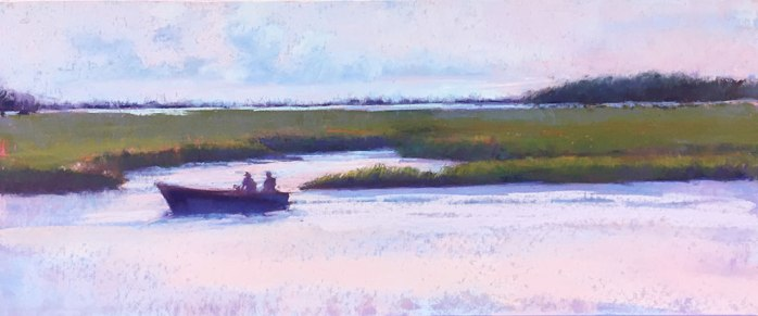 Dusk on the River, 24x10